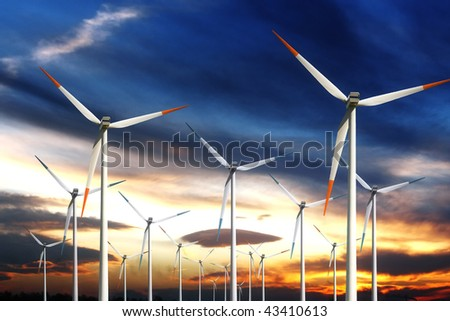 Wind power generating mills