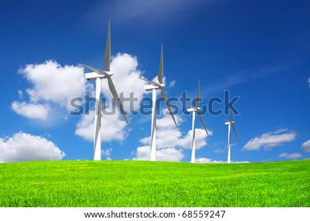 Wind Power Generators - stock photo