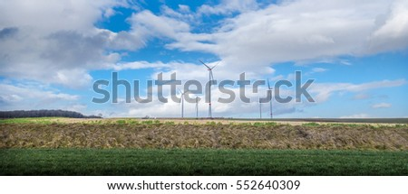 Wind power in beautiful landscape