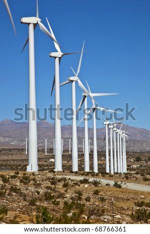 Wind Power Palm Springs - stock photo