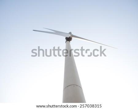 wind power plant - stock photo