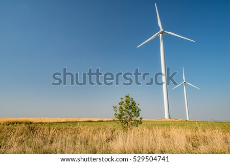 Wind power plant in western Romania