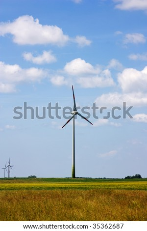 wind power plant, rural landscape