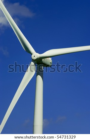 Wind power propeller closeup. - stock photo