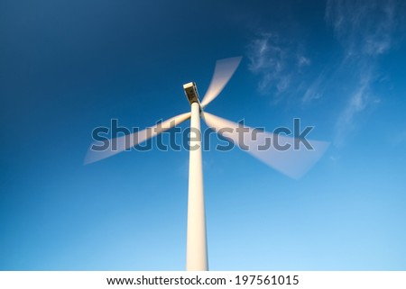 Wind power station. Ecological energy concept - stock photo