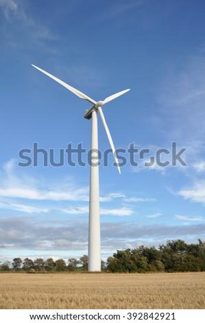 Wind power wind turbine in Denmark - stock photo