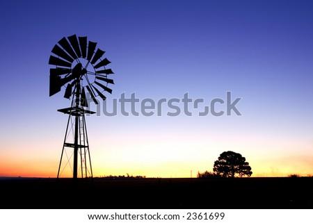 Wind pump 4 - stock photo