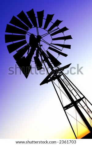 Wind pump 2 - stock photo