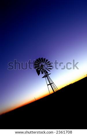 Wind pump1 - stock photo
