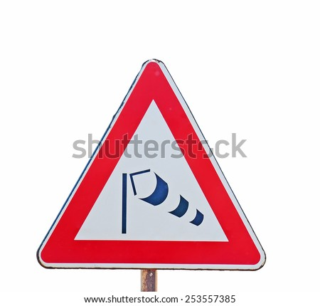 wind sock sign isolated on white background