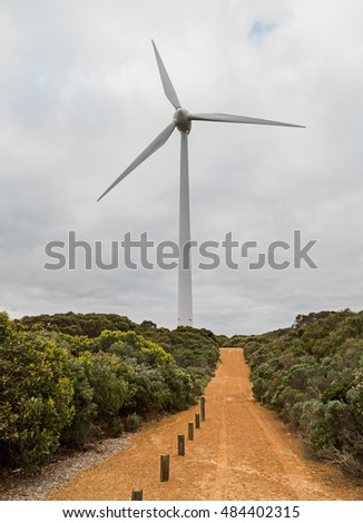 Wind turbine Albany Western Australia the wind farm here produces energy for the town