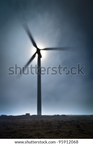 Wind Turbine at Paul de Serra plateau, Madeira, Portugal