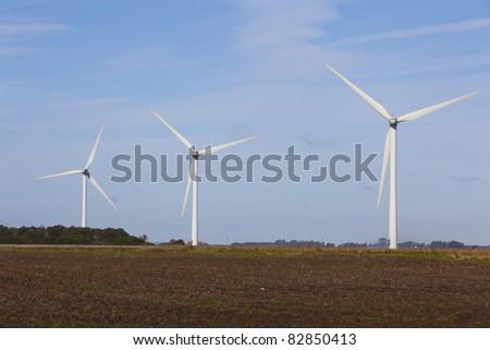 Wind turbine farm. - stock photo