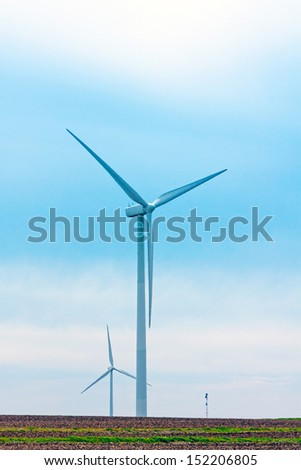 wind turbine farm in Wisconsin