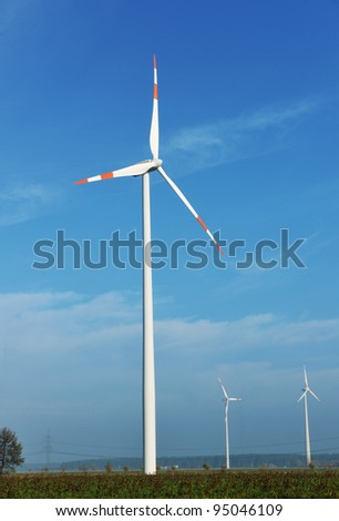wind turbine generating eco electricity