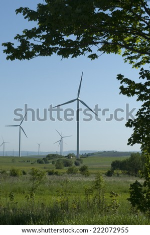 wind turbine generating power