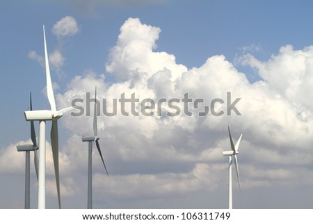 Wind turbine generator - stock photo