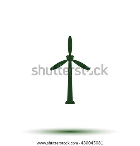 Wind turbine icon. - stock photo