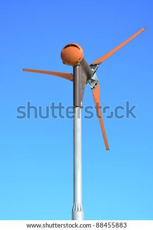 Wind Turbine in a Maltese farm - stock photo