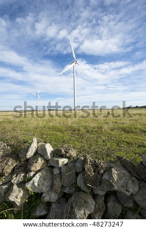wind turbine in south Italy