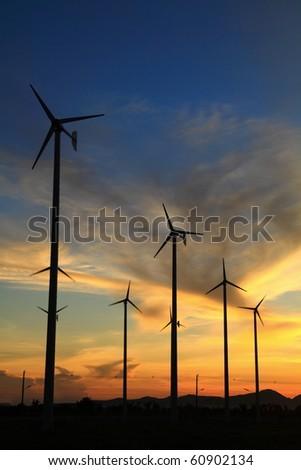 wind turbine in thailand - stock photo