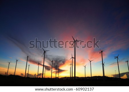 wind turbine in thailand - stock photo