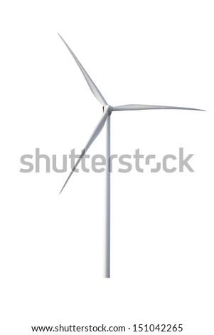 wind turbine on a white background