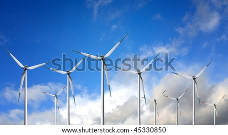 Wind Turbine on cloud