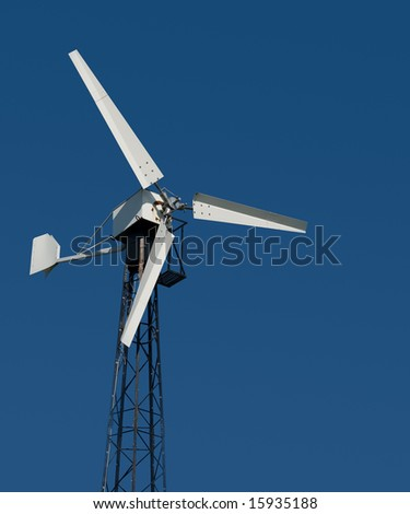 Wind-turbine over the sky - stock photo