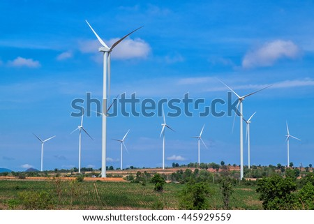 Wind turbine power at daylight