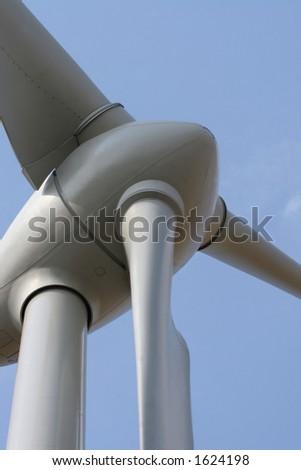 Wind turbine rotor - stock photo