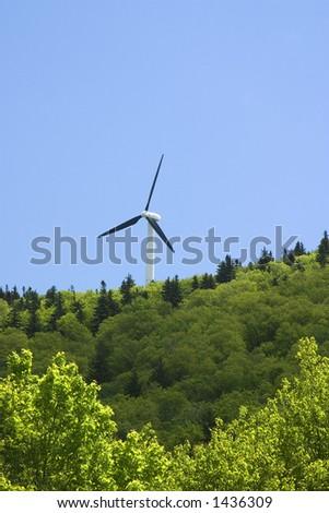 Wind Turbine  Searsburg Vermont - stock photo