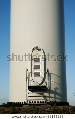 wind turbine windmill door - stock photo