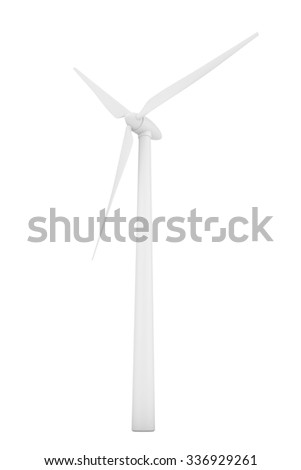 Wind Turbine Windmill on a white background