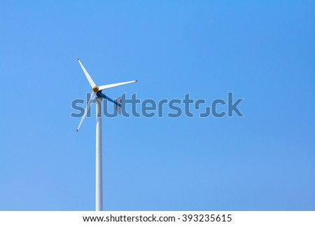 Wind turbine.Windmills for electric power production.Thailand,  copy space. - stock photo