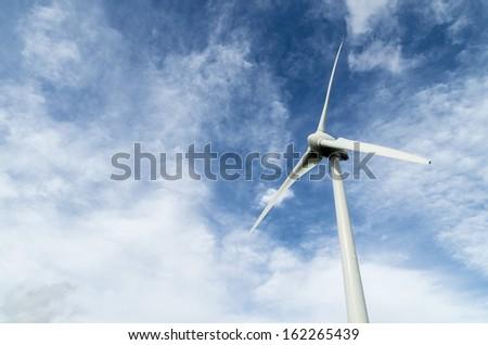wind turbines,  alternative energy, clean and sane environment - stock photo
