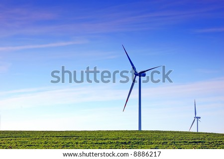 Wind turbines. Alternative sourse of energy