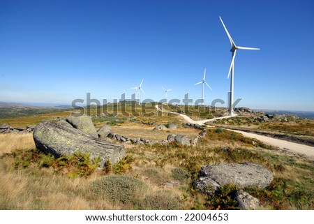 wind turbines black and white