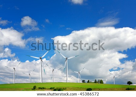 Wind turbines farm - alternative energy