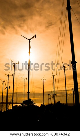 Wind turbines for electricity generation on the island