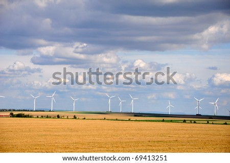Wind turbines in Germany - stock photo