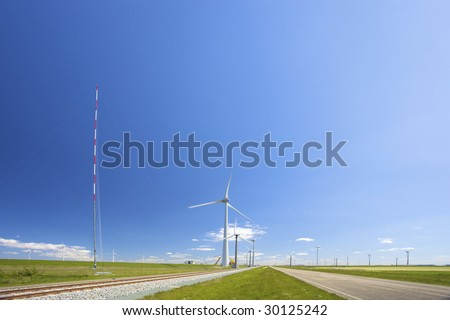 wind turbines in Holland producing energy