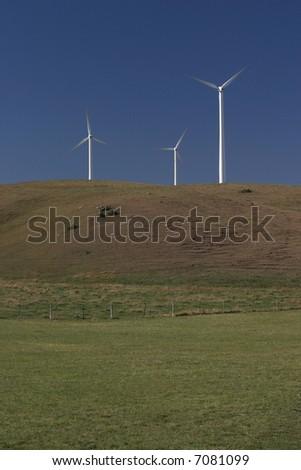 Wind Turbines in Southern Minnesota - stock photo
