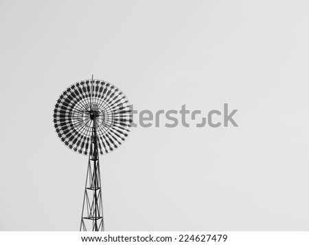 wind turbines in Thailand - stock photo