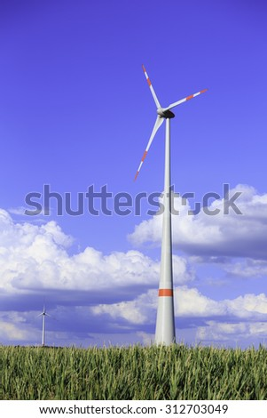 wind turbines in the country side