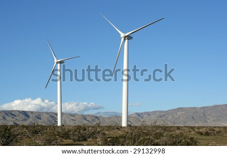 Wind turbines in the Southern California Desert