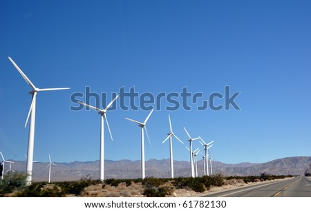 Wind turbines in USA - stock photo