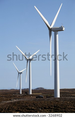 Wind turbines, Isle of Lewis, Outer Hebrides - stock photo