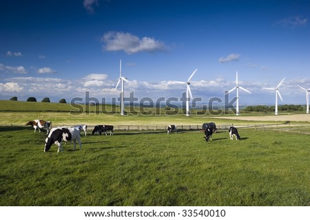 Wind Turbines on Royd Moor above Penistone England