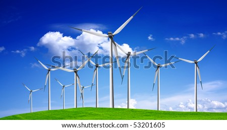 Wind turbines panorama